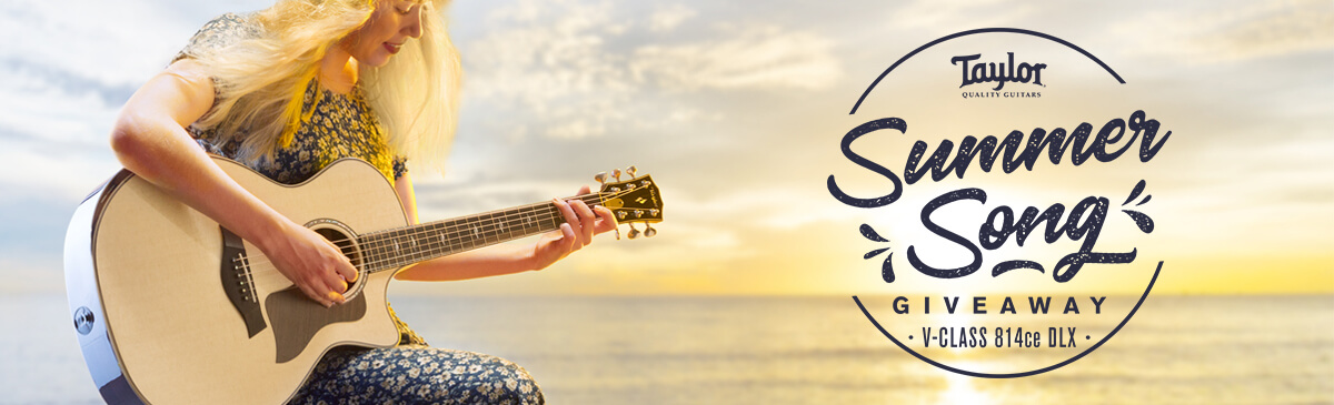 Taylor Guitars has a Summer Song Giveaway - Pro Gear News