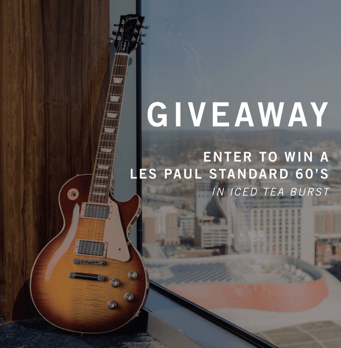 Enter the Gibson Iced Tea Burst Giveaway - Pro Gear News - Reviews